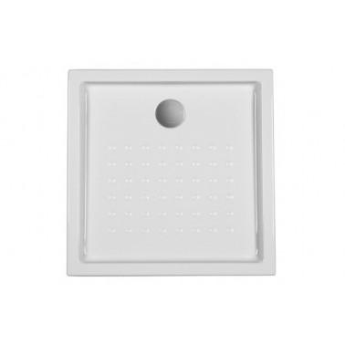 Plato de ducha de 80x80x12 mm con ala de 16 cm modelo Mosaico marca Unisan