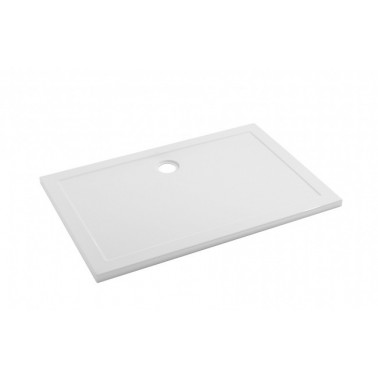 Plato de ducha de 100x80 mm con ala de 4 cm modelo Open marca Unisan
