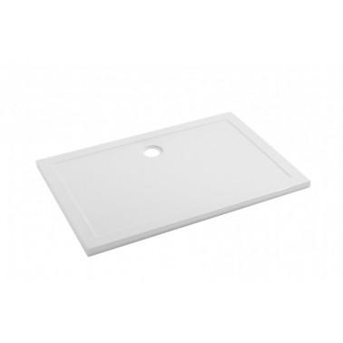 Plato de ducha de 100x90 mm con ala de 4 cm modelo Open marca Unisan