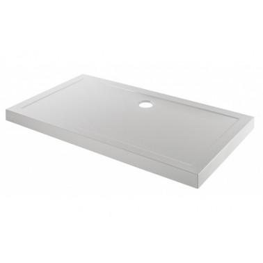 Plato de ducha de 140x80 mm con ala de 7,5 cm modelo Open marca Unisan