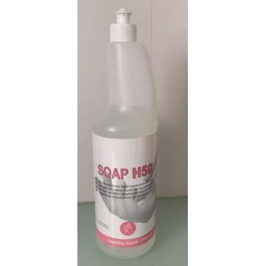 Gel hidroalcoholico antiséptico para la desinfección de manos, botella de 1 litro