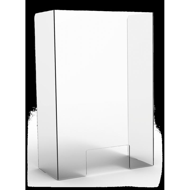 mampara de protección metacrilato transparente