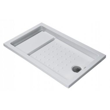 Plato de ducha de 120x75 mm con ala de 4 cm modelo Strado marca Unisan