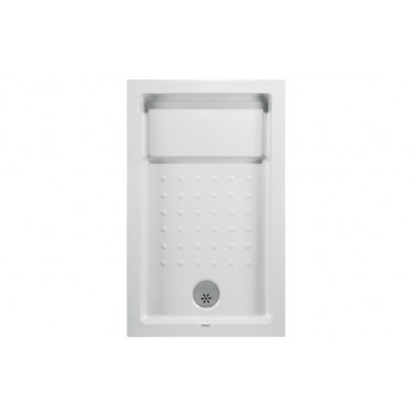 Plato de ducha de 120x75 mm con ala de 12 cm modelo Strado marca Unisan