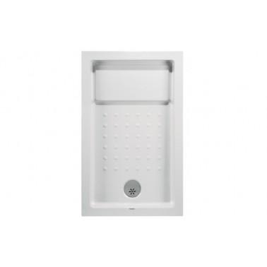 Plato de ducha de 120x80 mm con ala de 12 cm modelo Strado marca Unisan
