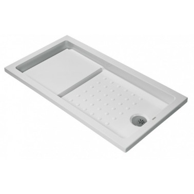 Plato de ducha de 140x90 mm con ala de 4 cm modelo Strado marca Unisan