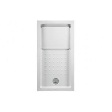 Plato de ducha de 140x90 mm con ala de 12 cm modelo Strado marca Unisan