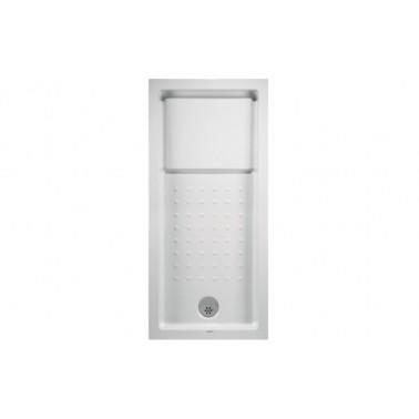 Plato de ducha de 160x75 mm con ala de 12 cm modelo Strado marca Unisan