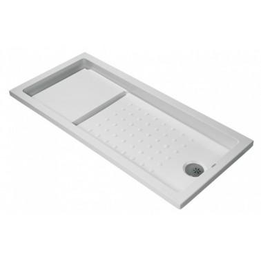 Plato de ducha de 160x80 mm con ala de 4 cm modelo Strado marca Unisan