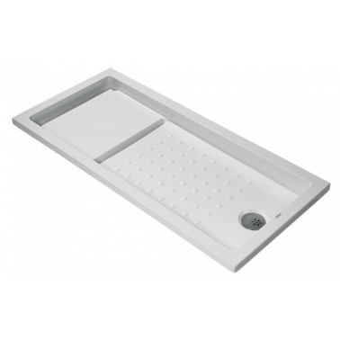 Plato de ducha de 160x90 mm con ala de 4 cm modelo Strado marca Unisan
