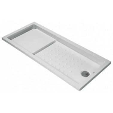Plato de ducha de 170x75 mm con ala de 4 cm modelo Strado marca Unisan