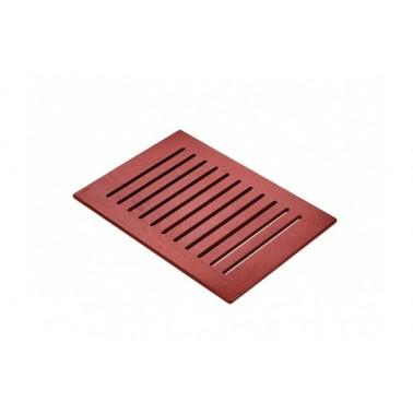 Tarima en color wengué de 850x600 mm para plato de ducha Strado 100x75 marca Unisan
