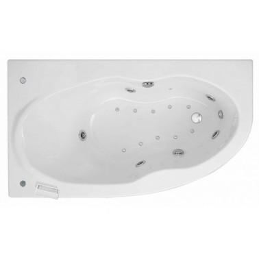 Bañera de hidromasaje blanca con sistema Top de 160x90 mm Duna derecha marca Unisan