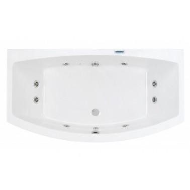 Bañera de hidromasaje blanca con kit blanco y motor izda. de 170x90 mm Newday marca Unisan