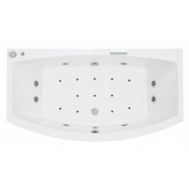 Bañera de hidromasaje blanca con sistema top y motor izda. de 170x90 mm Newday marca Unisan