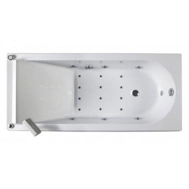 Bañera de hidromasaje blanca con sistema top y motor izda. de 180x80 mm Reflex marca Unisan