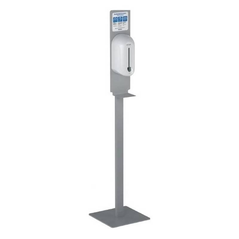 Columna a suelo de desinfección con dispensador automático de gel hidroalcoholico antiséptico para la desinfección de manos