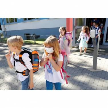 Estación de desinfección infantil especial para colegios con dosificador de gel antiséptico sin contacto