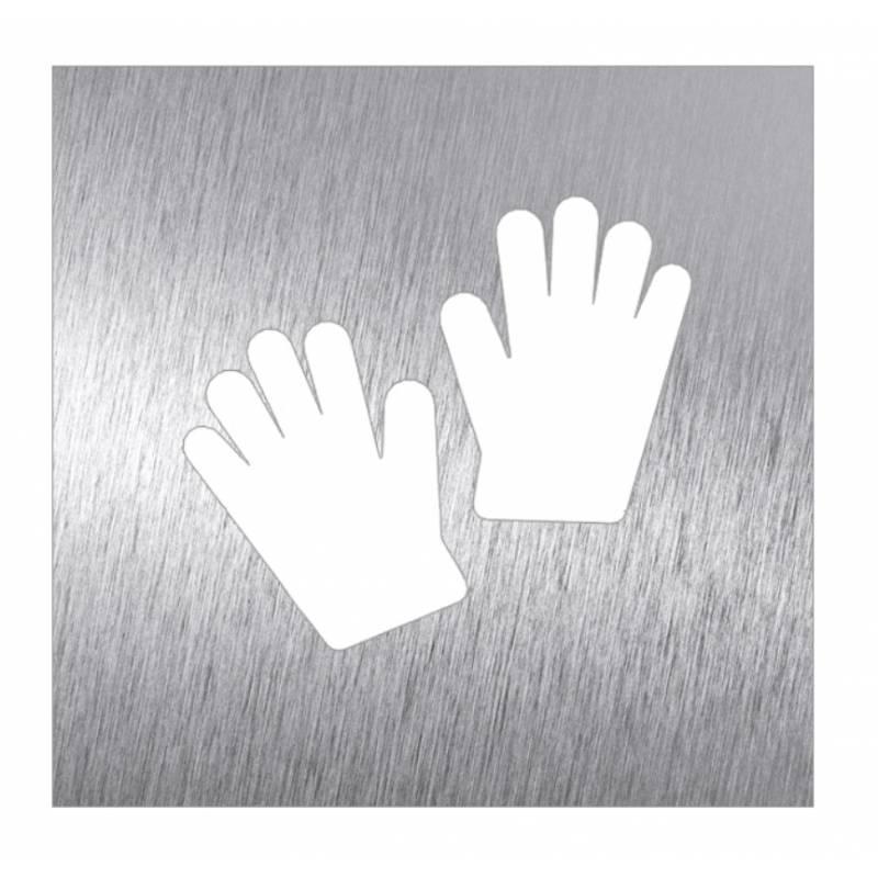 Pictograma guantes en acero inoxidable