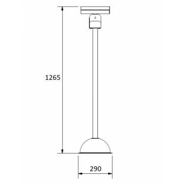 Medidas columna de desinfección con dispensador de guantes y soporte para gel