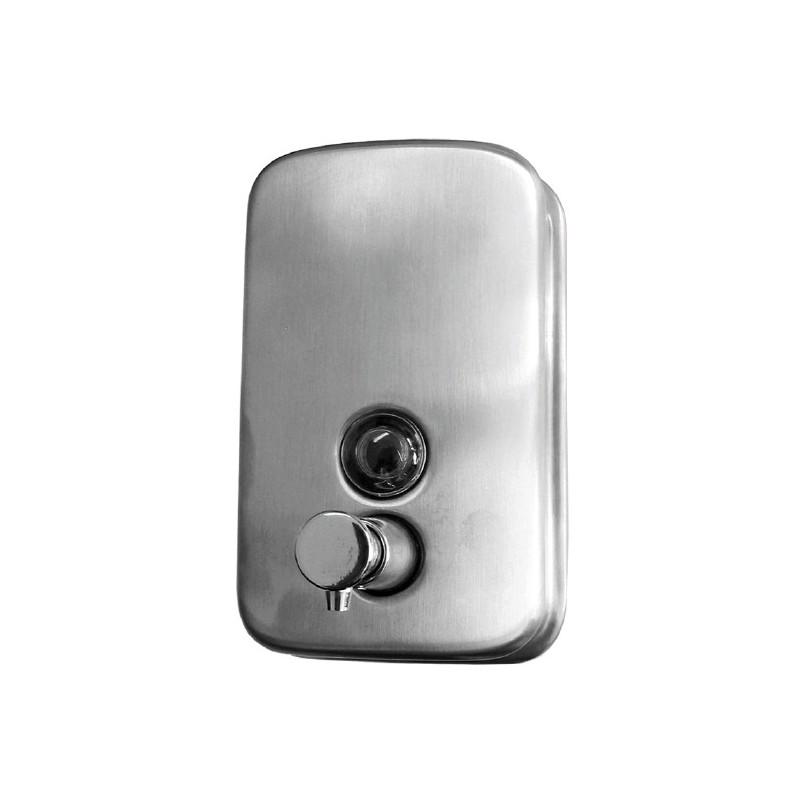 Dispensador de jabón de acero inox satinado de 1 litro