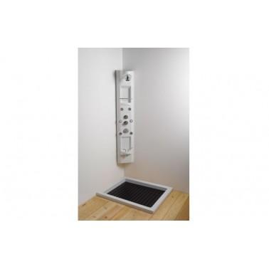 Columna de hidromasaje con grifo termostático modelo Relax Angular marca Unisan