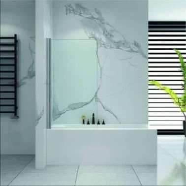 Mampara para bañera con perfiles cromados Komercia
