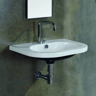Lavabo mural de color negro modelo Light Valadares
