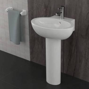 Pedestal para lavabo de color negro modelo Durius Valadares