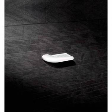 Jabonera pequeña de porcelana en color blanco modelo Blend Valadares