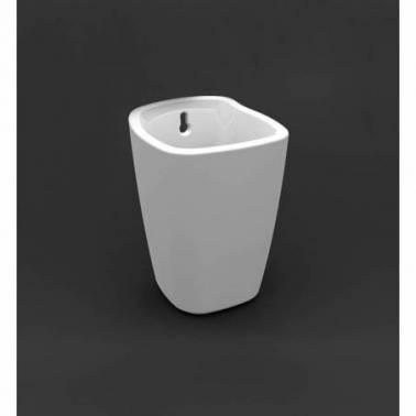 Porta escobillas de porcelana blanca modelo Alfa Valadares