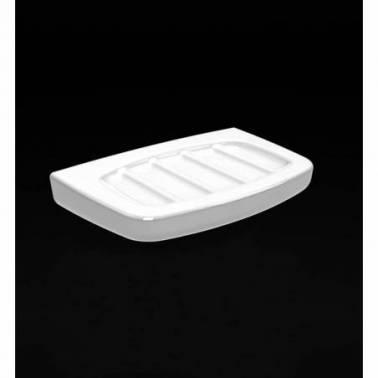 Jabonera pequeña de porcelana blanca modelo Alfa Valadares
