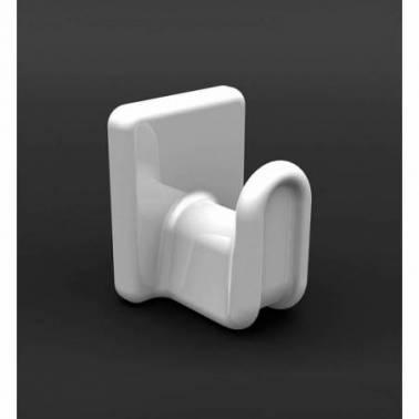 Percha simple de pared de porcelana negra modelo Líder Valadares