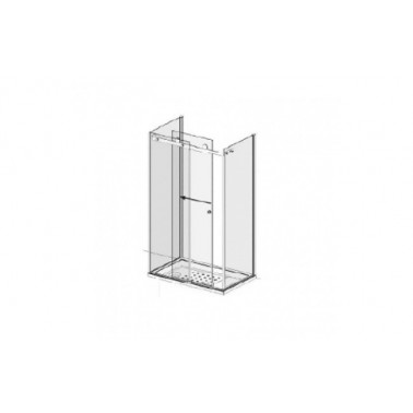 Puerta para encastrar para plato de ducha de 140 mm izquierda modelo Strado marca Unisan
