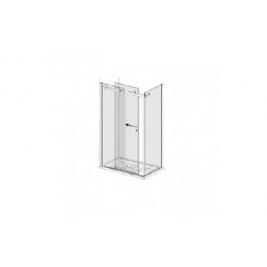 Puerta para plato de ducha de 140 mm izquierda para dos paneles laterales modelo strado marca Unisan