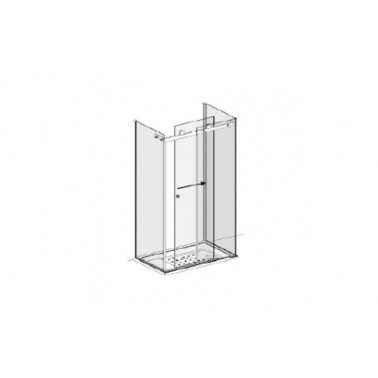 Puerta para encastrar para plato de ducha de 120 mm derecha modelo Strado marca Unisan