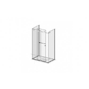 Puerta para encastrar para plato de ducha de 120 mm izquierda modelo Strado marca Unisan