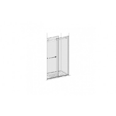 Puerta para plato de ducha de 120 mm derecha para 1 panel lateral modelo strado marca Unisan