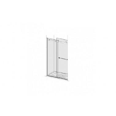 Puerta para plato de ducha de 120 mm izquierda para 1 panel lateral modelo strado marca Unisan