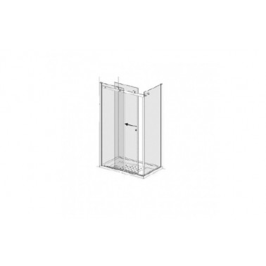 Puerta para plato de ducha de 120 mm izquierda para dos paneles laterales modelo strado marca Unisan