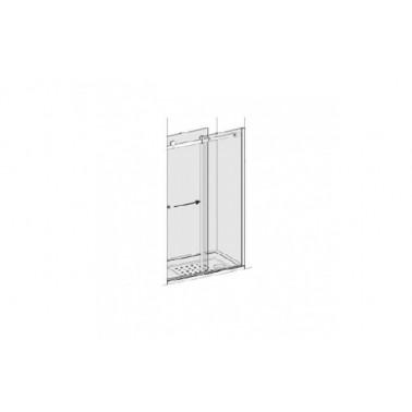 Puerta para plato de ducha de 100 mm izquierda para 1 panel lateral modelo strado marca Unisan