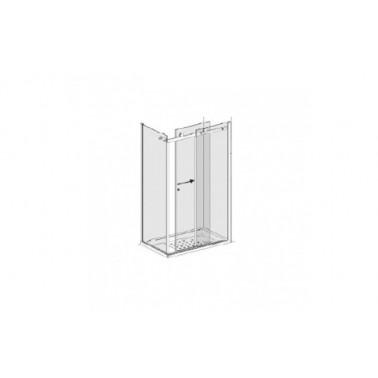 Puerta para plato de ducha de 100 mm derecha para dos paneles laterales modelo strado marca Unisan