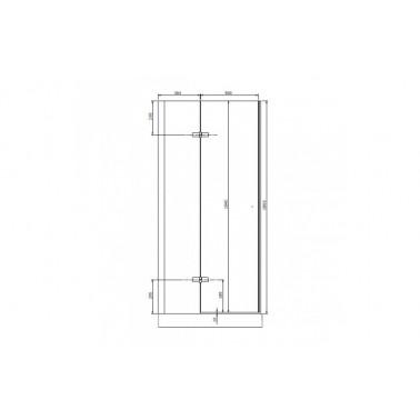 Puerta para plato de ducha de 120x185 mm modelo New Wccare marca Unisan