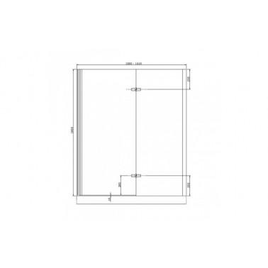 Perfil rectangular cromo para puerta de cristal derecha de 160 mm marca Unisan