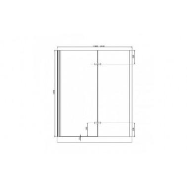 Perfil rectangular cromo para puerta de cristal para encastar derecha de 160 mm marca Unisan