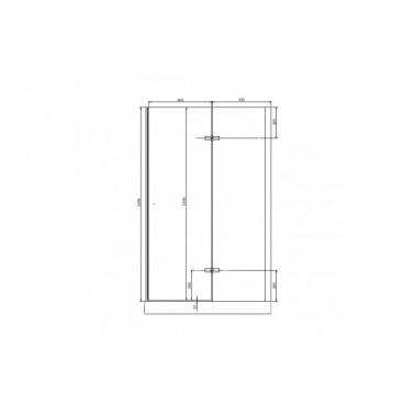 Perfil rectangular blanco para puerta de cristal derecha de 120 mm marca Unisan