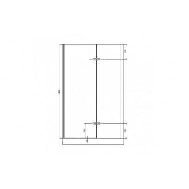 Perfil rectangular blanco para puerta de cristal para encastar derecha de 120 mm marca Unisan