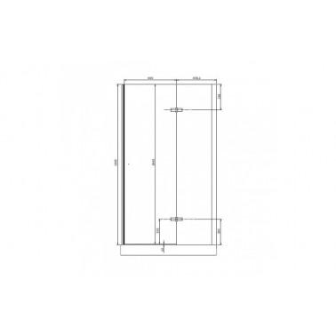 Perfil rectangular cromo para puerta de cristal derecha de 110 mm marca Unisan