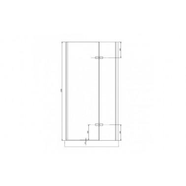 Perfil rectangular cromo para puerta de cristal derecha de 100 mm marca Unisan