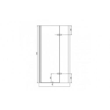 Perfil rectangular cromo para puerta de cristal para encastar derecha de 100 mm marca Unisan